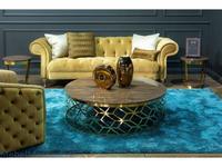 MHC: Figaro-B: стол журнальный (эбеновое дерево, розовое золото)