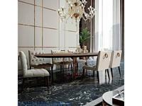 MHC: Nabucco: стол обеденный со стульями (орех, розовое золото)