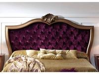Zache: Victoria: изголовье кровати 160 с капителью (золотая патина, ткань)