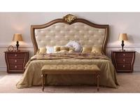 Zache: Victoria: кровать 180х200 с капителью (золотая патина, ткань)
