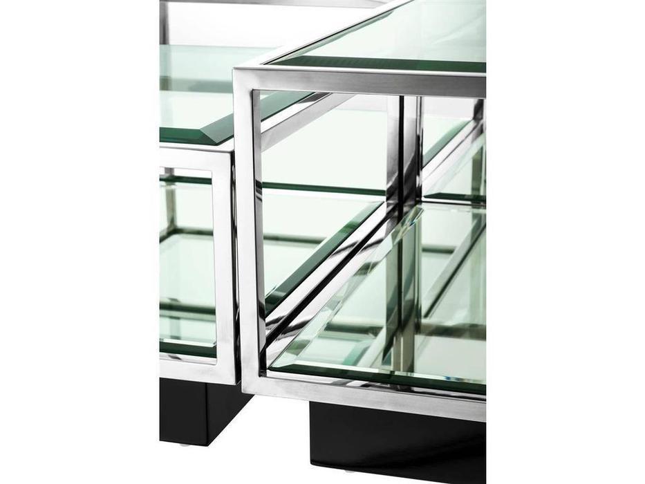 Eichholtz: Tortona: стол журнальный  (металл,стекло)