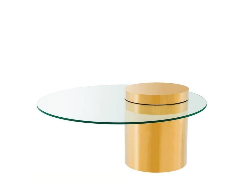 Eichholtz: Equilibre: стол журнальный  (металл,стекло)