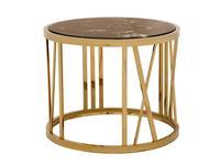 Eichholtz: Baccarat: стол кофейный  (металл, мрамор)