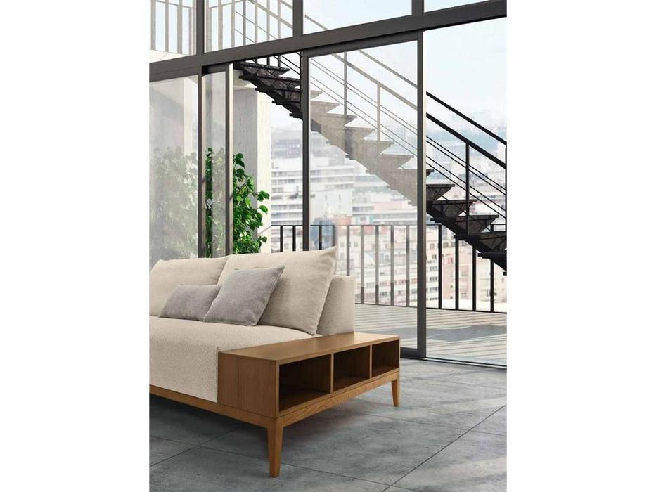 Eko Divani: Freeman: диван 3 местный с полками тк. Super (ткань, орех)