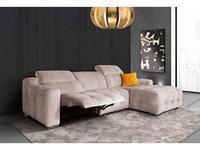 Miki Ferrari: Karma: диван угловой с реклайнером cat.Glamour (ткань)