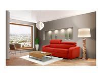 VerySofa: Dream: диван 3 местный раскладной (кожа, коралловый)