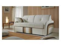 VerySofa: Linea: диван 3 местный раскладной (кожа, бежевый)