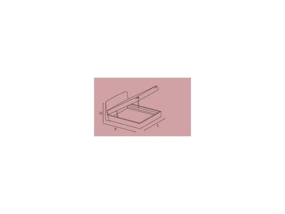 Camelgroup: Altea: кровать 180х200  Cleo с под.мех.Luna (avorio)