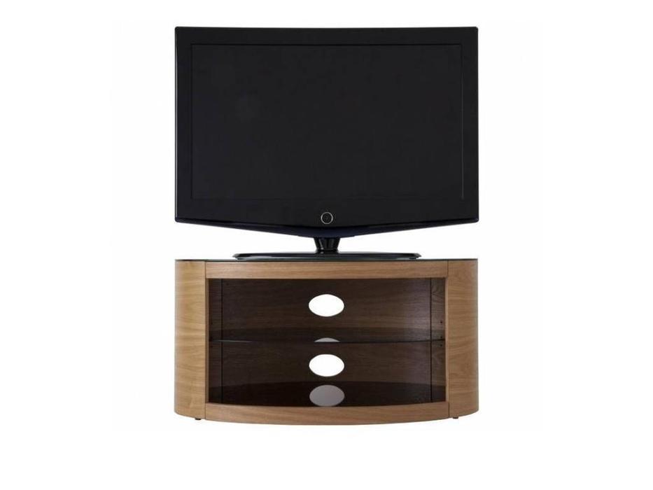 AVF: Buckingham: тумба под телевизор  (шпон дуб, стекло черное)