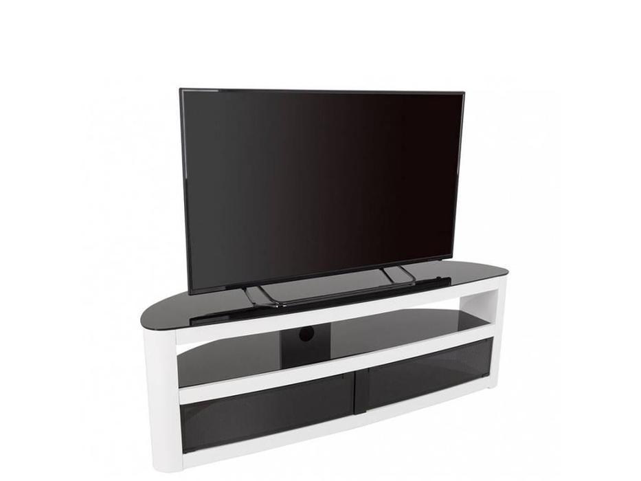 AVF: Burghley: тумба под телевизор  (белый глянец)