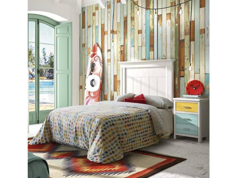 Grupo Seys: Cerdena: кровать  90х200 (Blanco Decape)