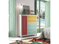 Grupo Seys: Cerdena: комод  с дверцей (многоцветный)