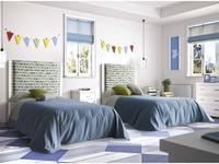 Grupo Seys: Cerdena: кровать Lena  90х200 (Blanco Decape) ткань