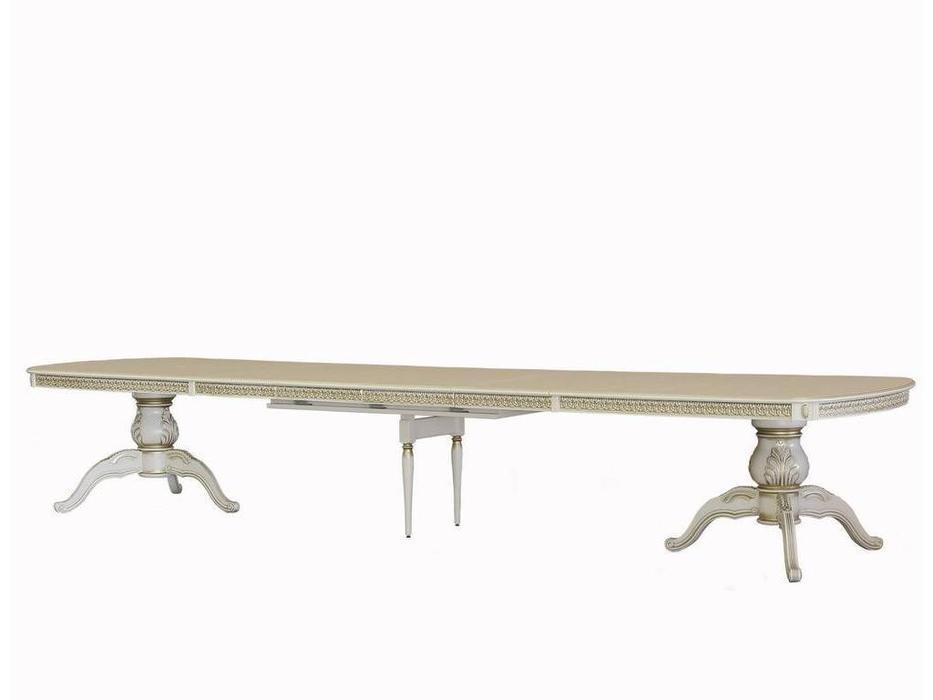 Юта: Альт: стол обеденный раскладной  (беж с золотом)