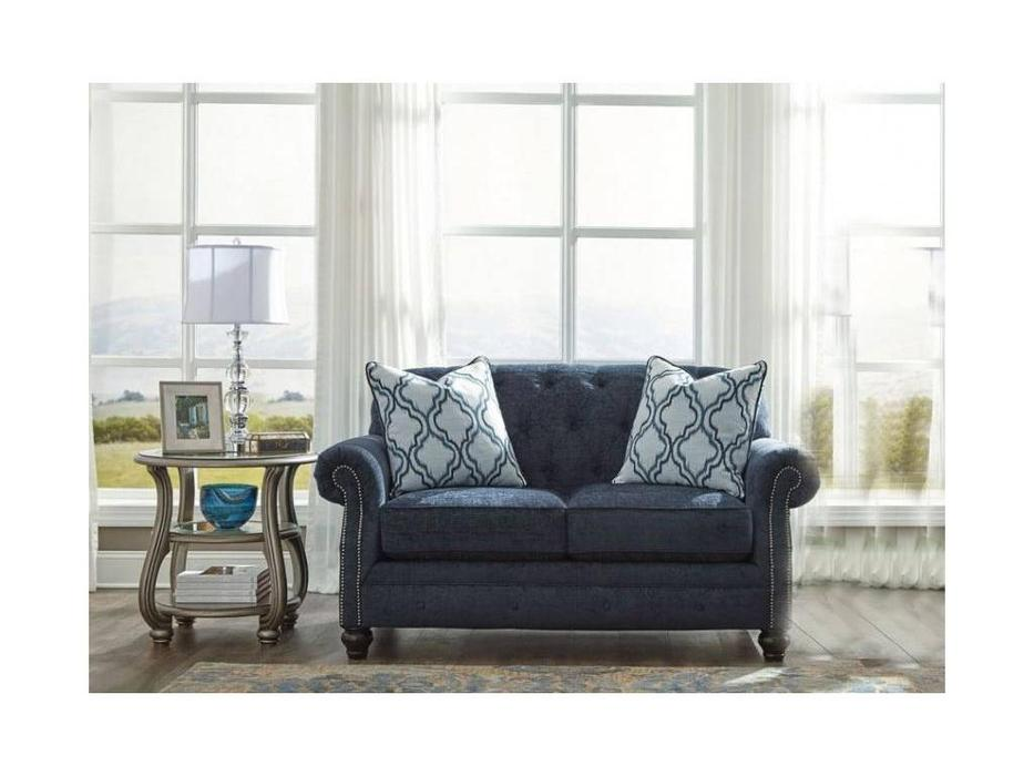 Ashley: LaVernia: диван 2 местный  (темно синий)