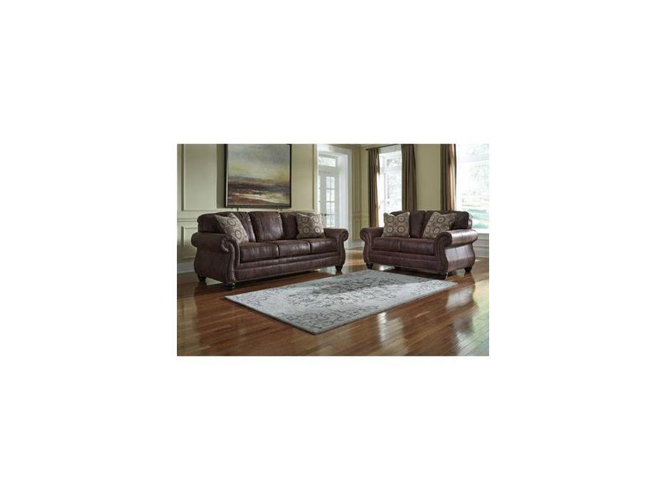 Ashley: Breville: диван 3 местный  (коричневый)