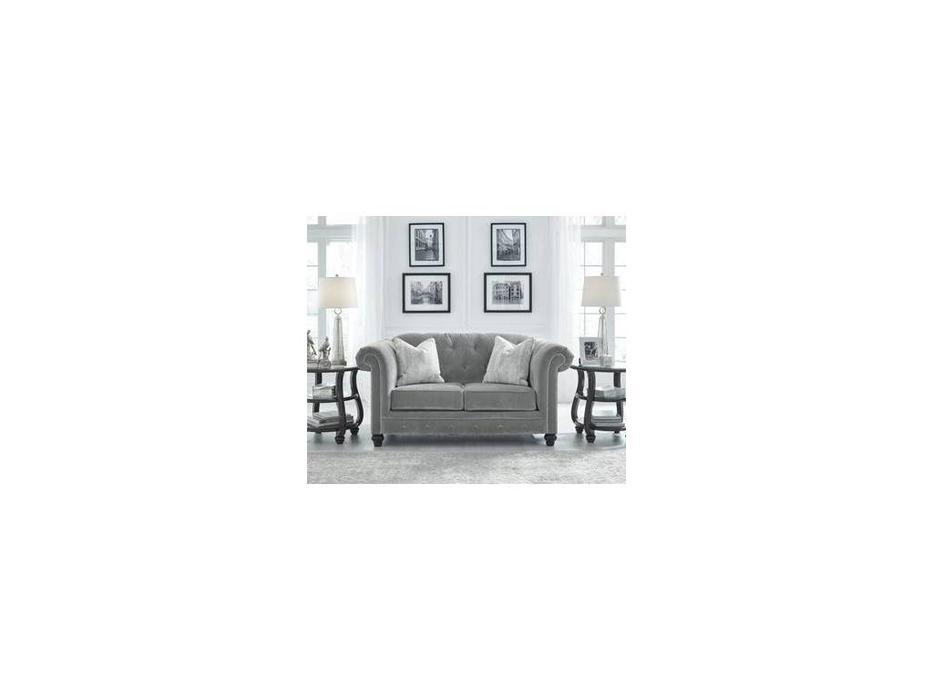 Ashley: Tiarella: диван 2 местный  (серый)