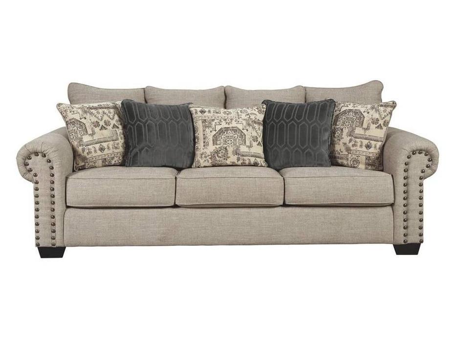 Ashley: Zarina: диван 3 местный  (бежевый)