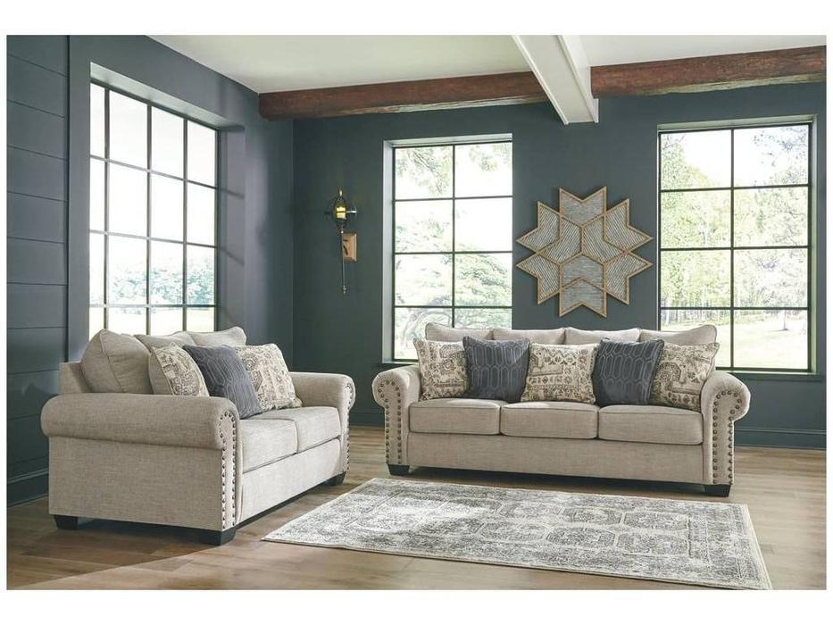Ashley: Zarina: комплект мягкой мебели (бежевый)