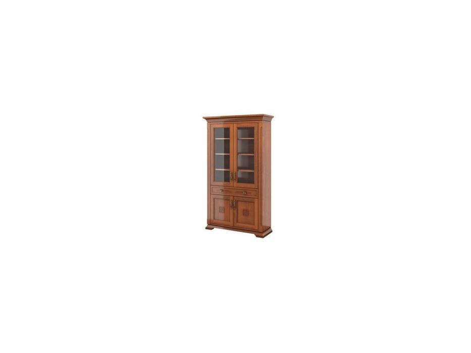Liberty-M: Палермо: витрина 2 дверная  (орех)