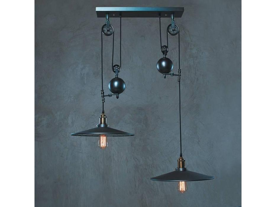 Loftit: Reflector: светильник подвесной  2xE27 max 60W (чёрный дымчатый)