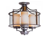 Loftit: Parter: люстра потолочная  3 x E27 max 40W (античный серый)