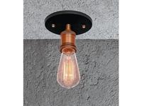 Loftit: Simfony: светильник потолочный  1xE27 max 60W (чёрный матовый, бронза)