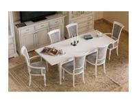Mmobili: Signoria: стол обеденный  раскладной (белый с патиной)