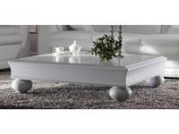 Mmobili: Pitti: стол журнальный  (белый с патиной)