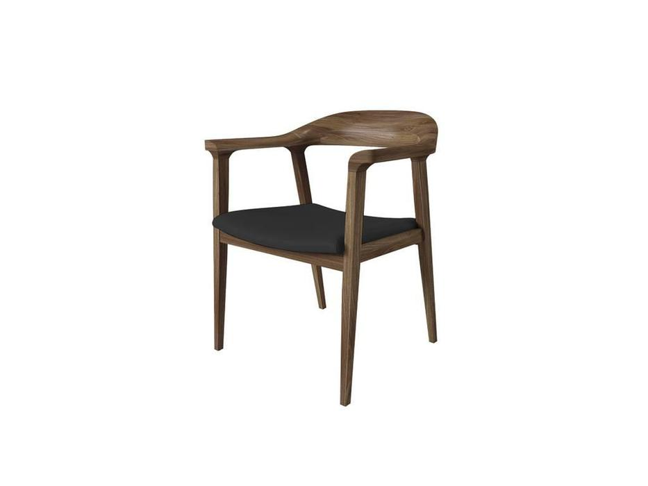 Vacso: Loopnova: стул  (тёмный орех, черная кожа)