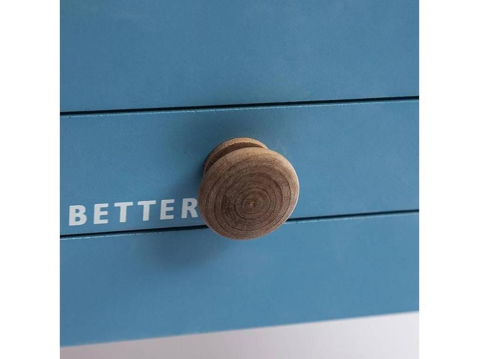 Loft: Mediterranean: тумба  (белый, голубой)