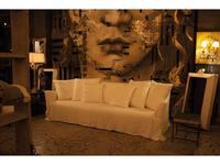 Crearte: Contemporain Ascot: диван 3 местный (лён)