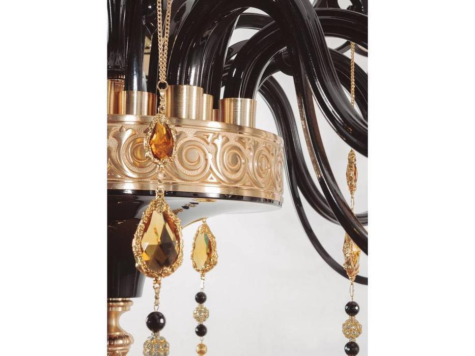 Jago: Dubai: люстра подвесная  15х40W-E14 (золото, черный)