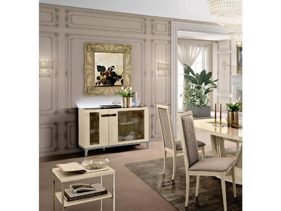Camelgroup: Ambra: буфет 2 двери стекло (янтарная береза)
