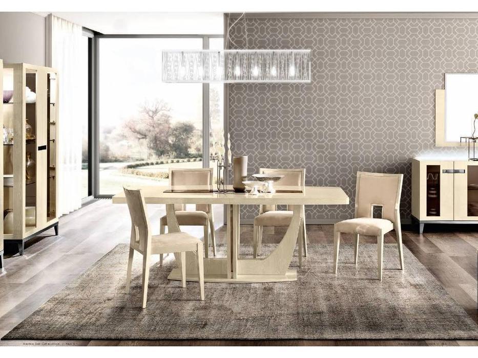 Camelgroup: Ambra: стол обеденный раскладной 200см. (янтарная береза)