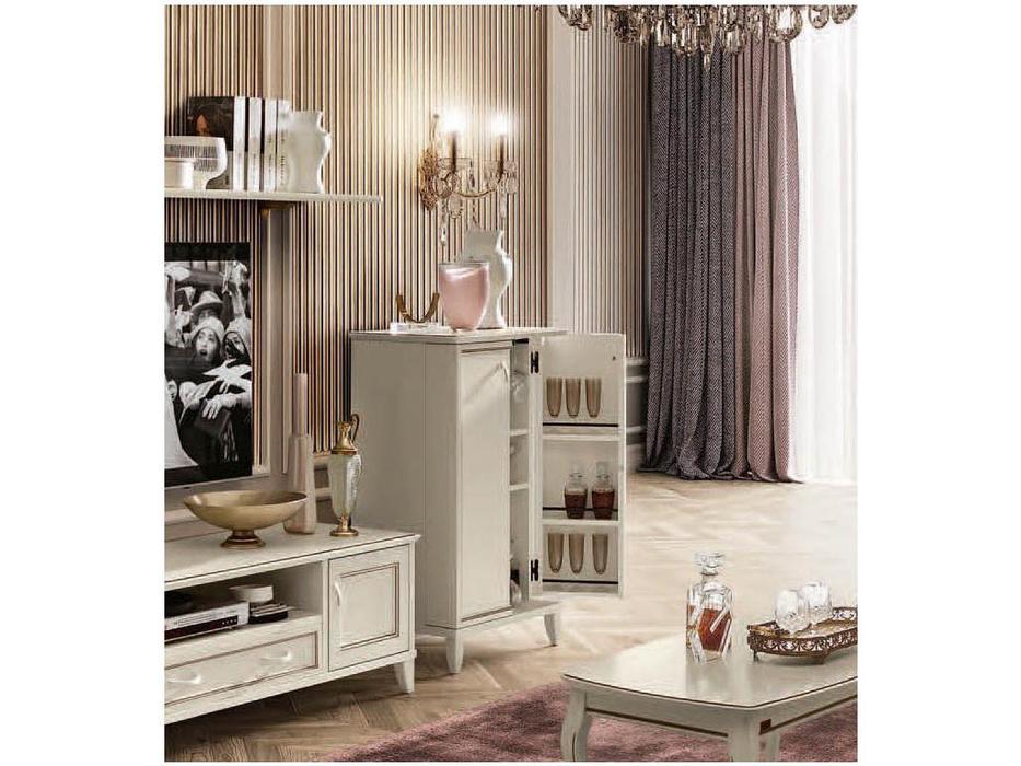 Camelgroup: Giotto: витрина - бар  (белый антик)