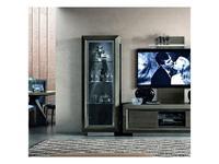 Camelgroup: Elite: витрина 1 дверная  (серебристая береза)