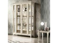 Camelgroup: Giotto: витрина 2 дверная  с ящиком (белый антик)