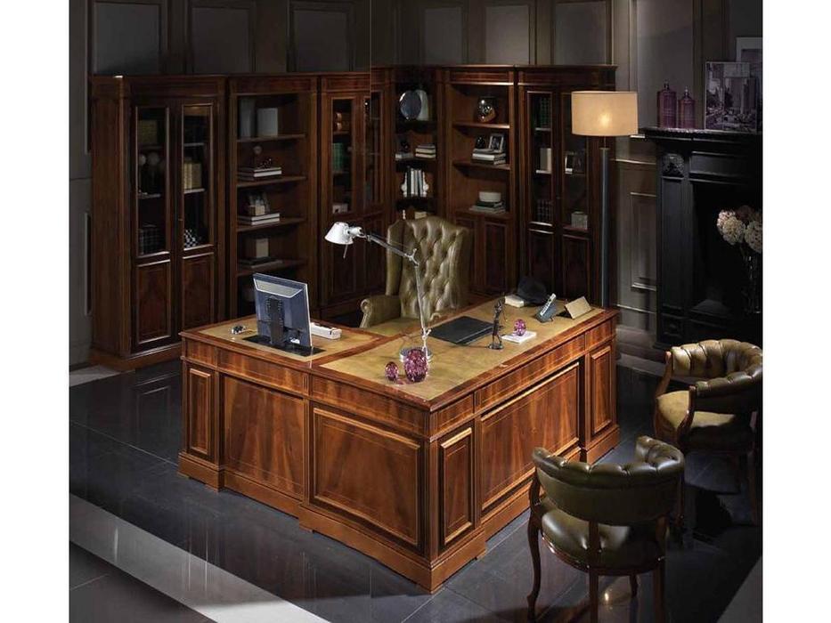 Arte Mobilia: Premier: стол письменный  (шпон орех, кожа)