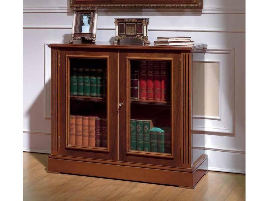 Arte Mobilia: Premier: шкаф книжный  низкий 2 дв. (шпон орех)