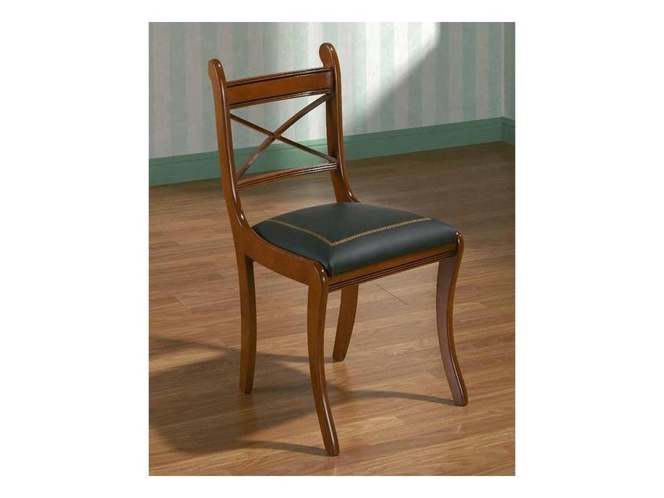 Arte Mobilia: Silleria: стул  Georgia (шпон орех, кожа)