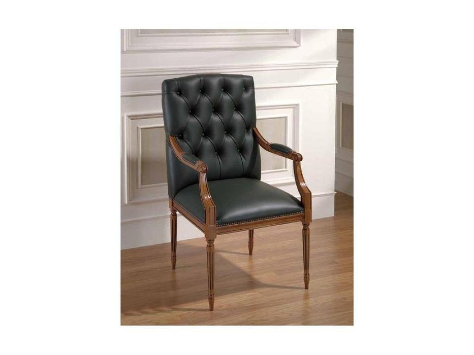 Arte Mobilia: Silleria: кресло  Capitone (шпон орех, кожа)