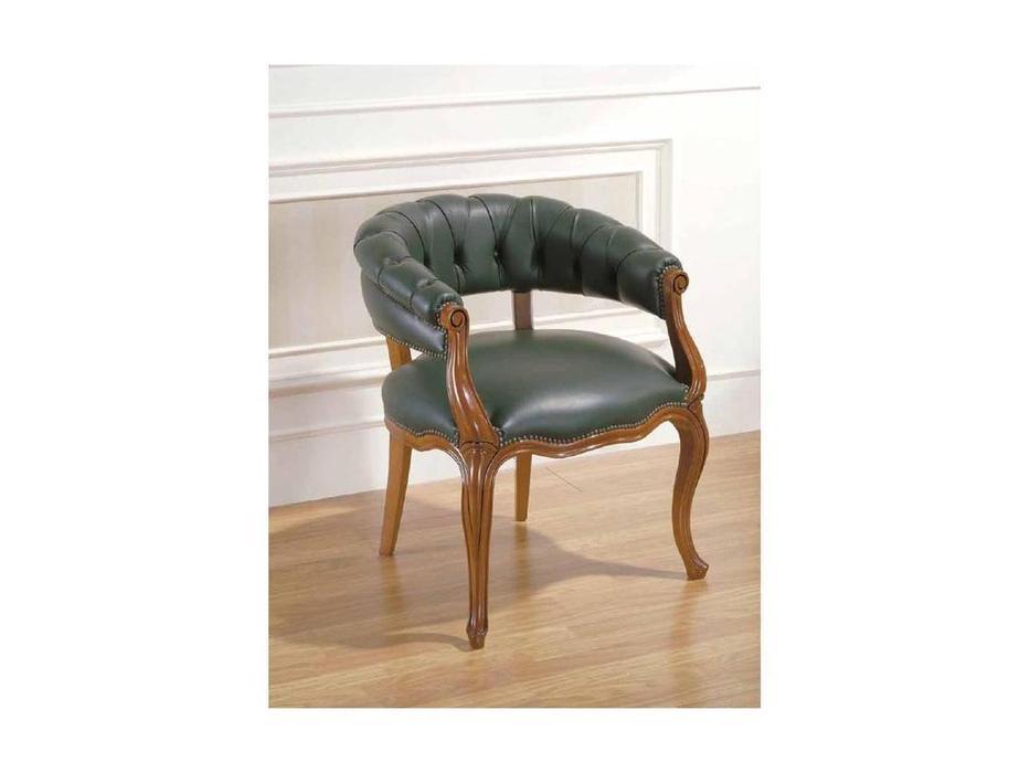 Arte Mobilia: Silleria: кресло  (шпон орех, кожа)