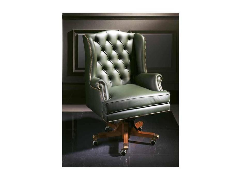 Arte Mobilia: Silleria: кресло вращающееся  Capitone (шпон орех, кожа)