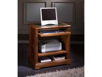 Arte Mobilia: Premier: стол компьютерный  на колесиках (шпон орех, кожа)