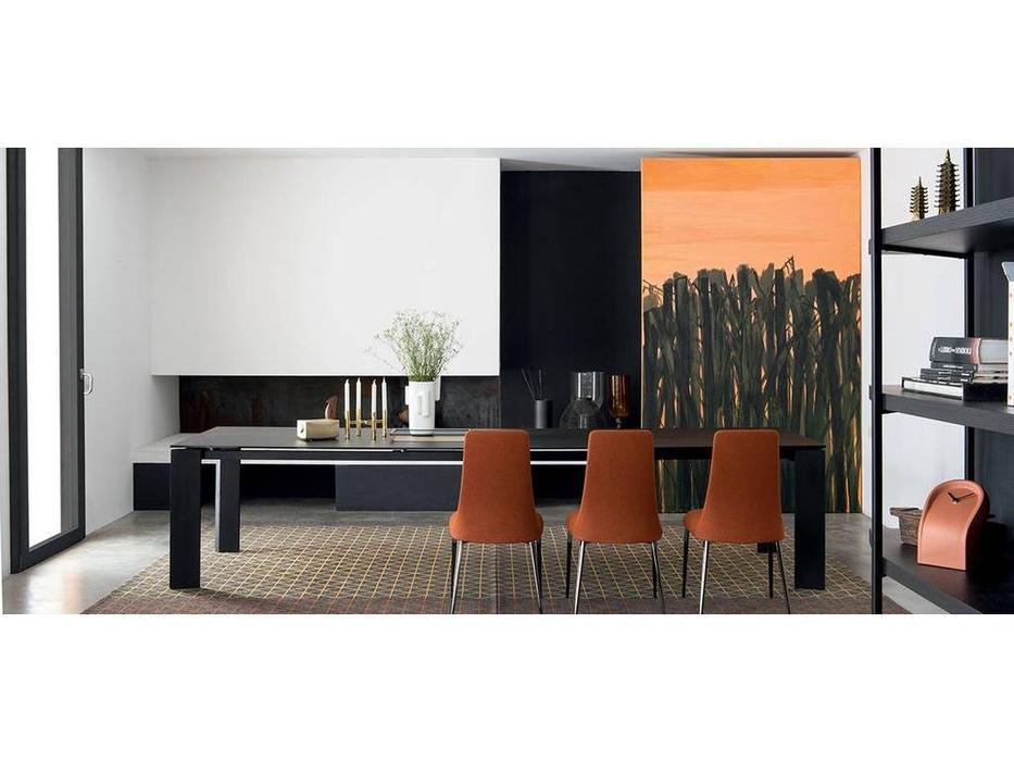 Calligaris: Boulevard: стол обеденный  раскладной (черный)