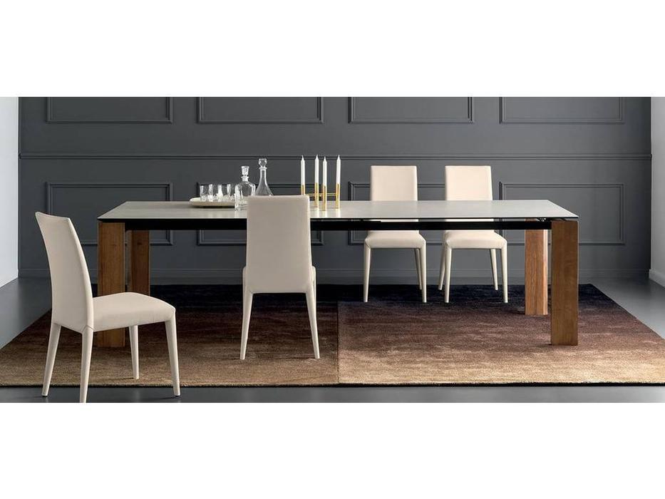 Calligaris: Boulevard: стол обеденный  раскладной (белый, дуб)