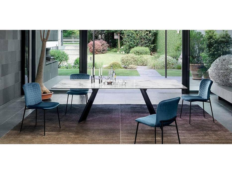 Calligaris: Icaro: стол обеденный  (белый мрамор, черный)