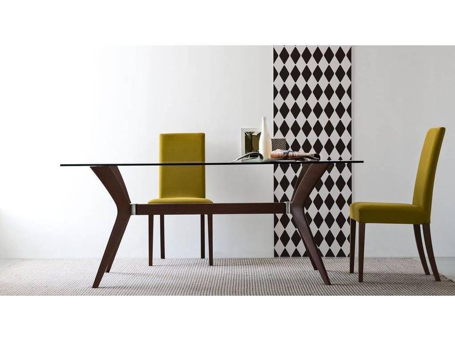 Calligaris: Tokyo: стол обеденный  (орех, стекло)