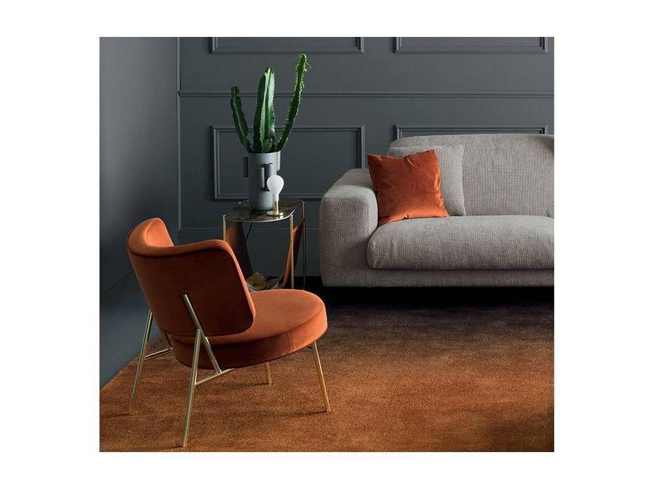 Calligaris: Coco: стул  (черный металл, бархат розовый)